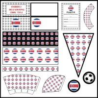 Costa Rica: Football Party Printable Set