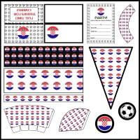 Croatia: Football Party Printable Set