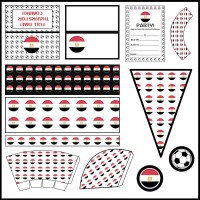 Egypt: Football Party Printable Set