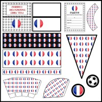 France: Football Party Printable Set