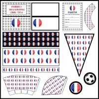 France: Football Party Printable Set