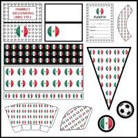 Mexico: Football Party Printable Set