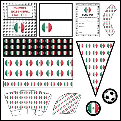 Mexico: Football Party Printable Set