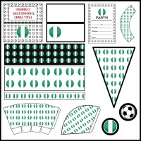 Nigeria: Football Party Printable Set