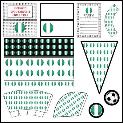 Nigeria: Football Party Printable Set