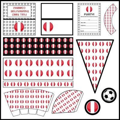 Peru: Football Party Printable Set