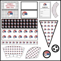 Serbia - Football Party Printable Set