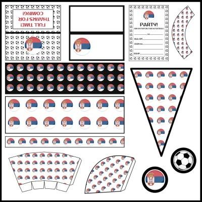 Serbia - Football Party Printable Set