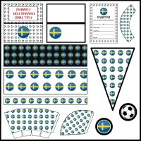 Sweden - Football Party Printable Set