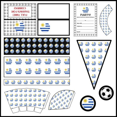 Uruguay: Football Party Printable Set