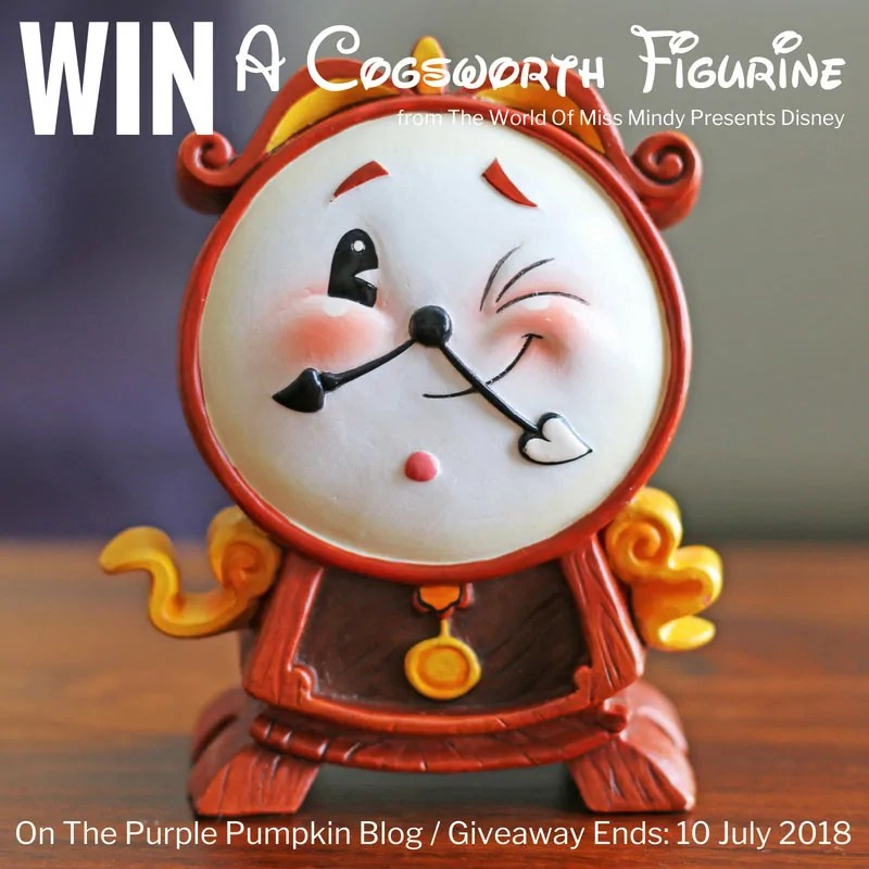 Win a Cogsworth Figurine from The World Of Miss Mindy Presents Disney