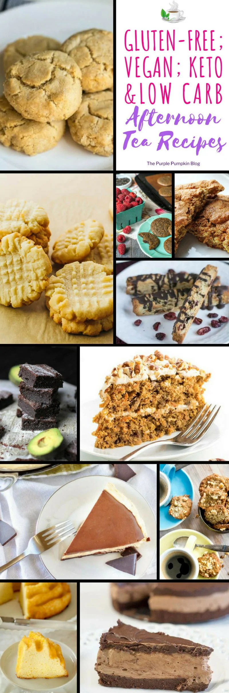Vegan; Gluten-Free; Keto; Low Carb Afternoon Tea Recipes - don't miss out on afternoon tea if you have special dietary requirements - lots of delicious recipes here!