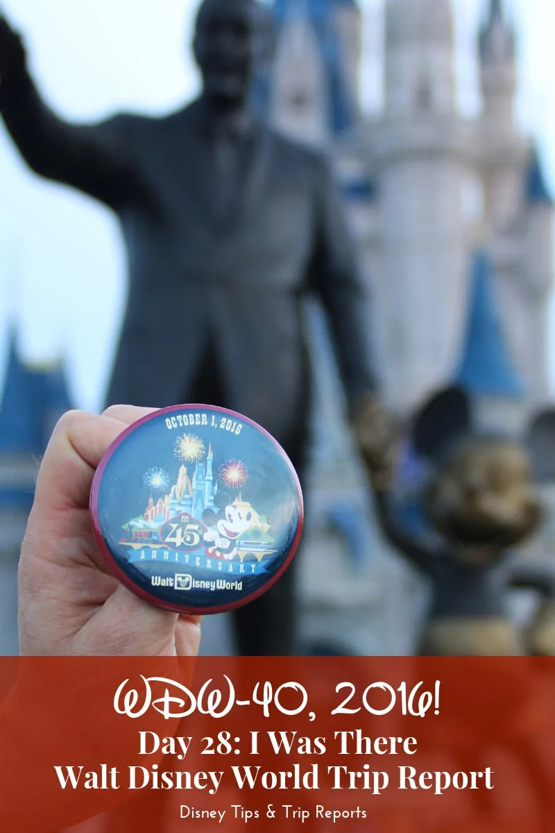 Day 28: I Was There / WDW-40, 2016