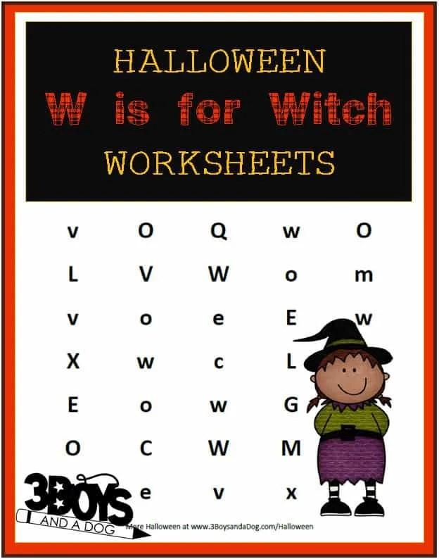 Halloween W Wordsearch