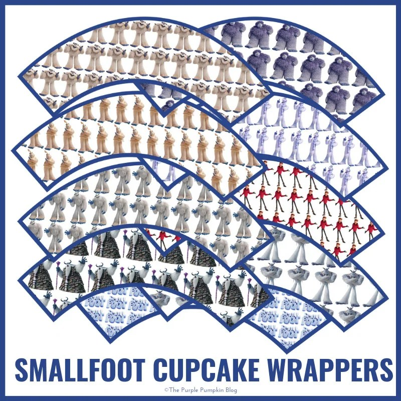 Smallfoot Cupcake Wrappers