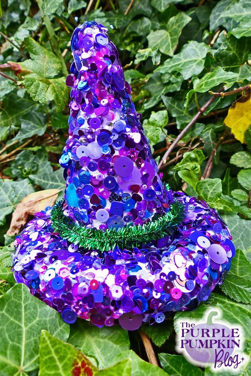 Sequin Witch Hat Decoration