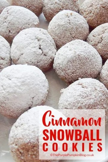These Cinnamon Snowball Cookies are so quick and easy to make, taste delicious and are also gluten-free and dairy-free. A yummy festive sweet treat!