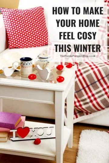 If you are looking for ways to make your home feel cosy this winter you've come to the right place! As the nights get darker, and the temperatures drop, there is nothing nicer than being coming home to a warm and cosy house. I've got lots of ideas to make your home feel cosy this winter, read on to find out what they are! #Hygge #Cosy