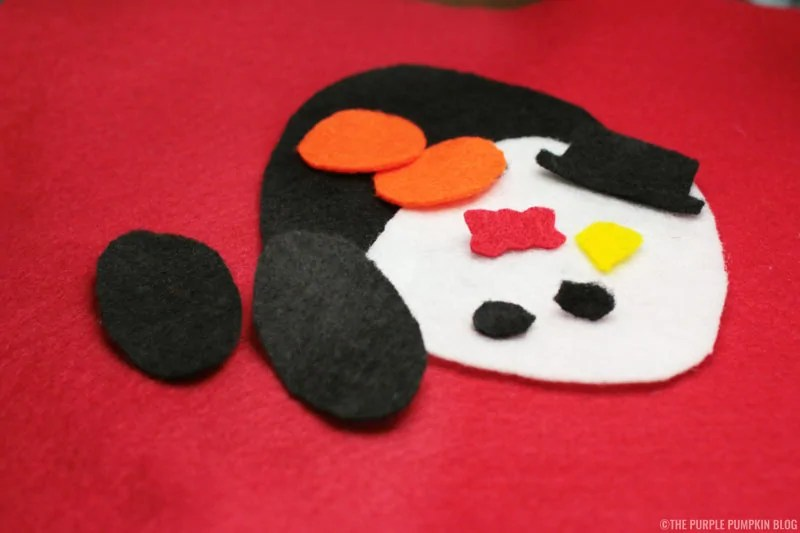 Easy to Make No-Sew Felt Christmas Ornament - pattern pieces