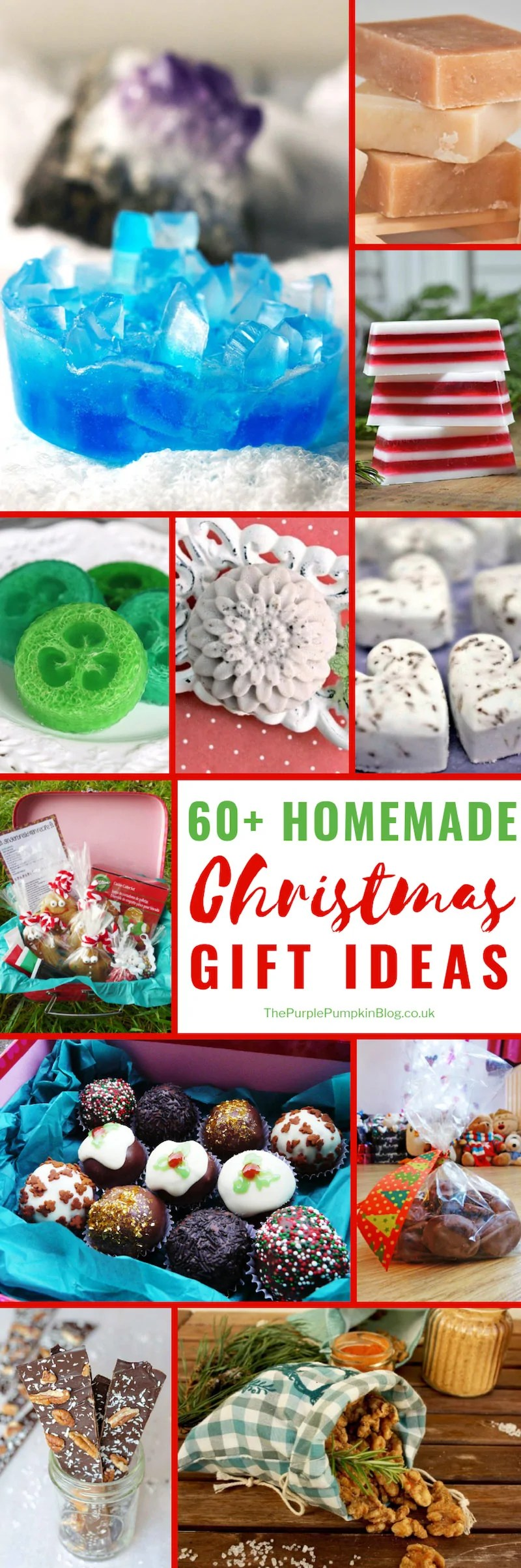 60+ Homemade Christmas Gifts that are perfect if you want to add a personal touch to your Christmas gifting. Included in this list of ideas and inspiration for homemade Christmas gifts are recipes which you can package into gift baskets, as well as homemade pamper products, sewing, and crochet projects, and more!