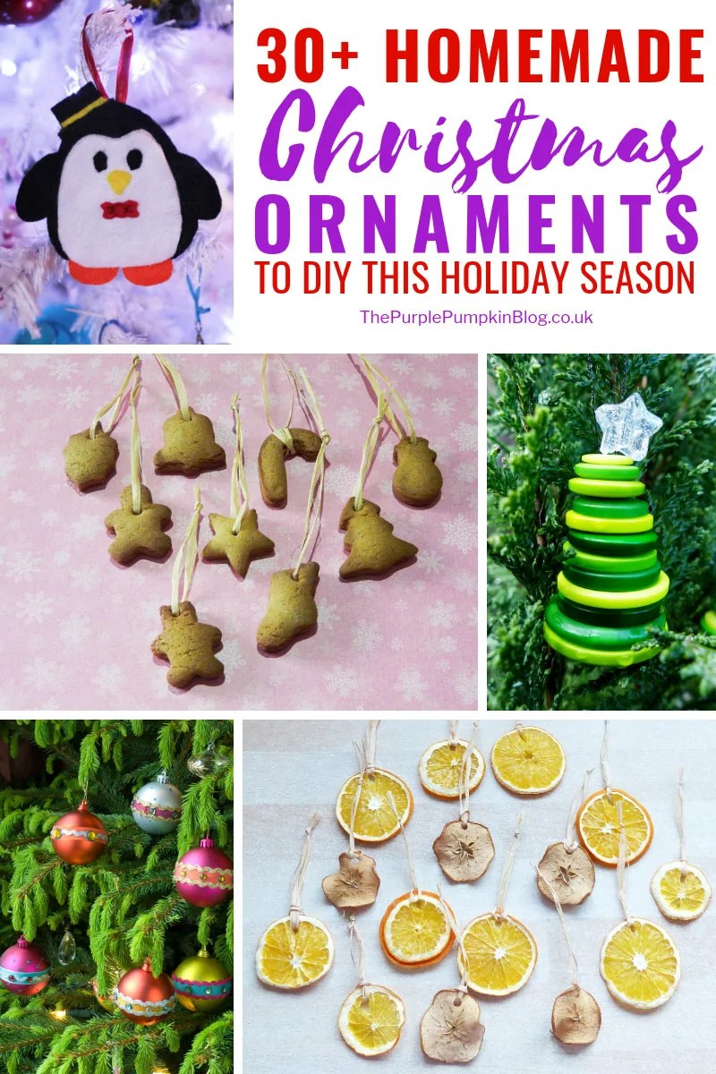 30+ Homemade Christmas Ornaments that you can DIY this Holiday Season! From classic homemade Christmas decorations like gingerbread, pomanders, and dried fruit; to more unusual ornaments made from bottle caps, wine corks, and tea lights; plus so many in between, including upcycling old decorations, I'm sure there will be something on this list you will want to try out!