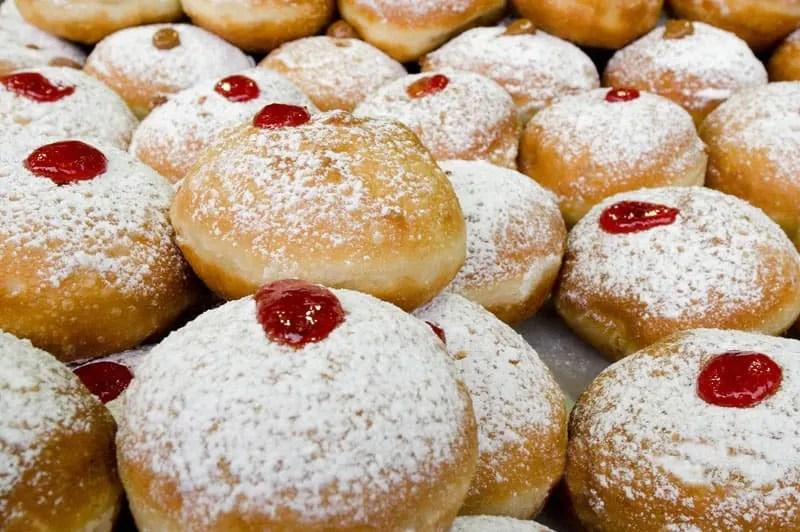 Sufganiyot (Hanukkah doughnuts)