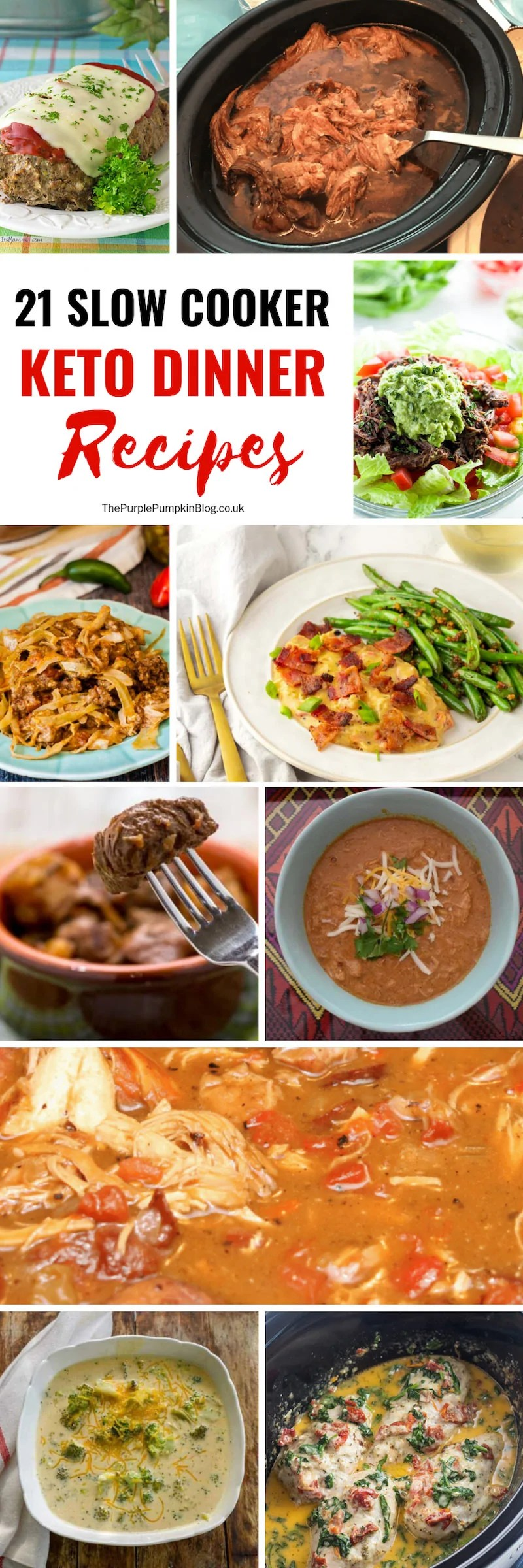 Take the stress out of dinner time with one of these slow cooker keto dinner recipes. Just dump all the ingredients into a slow cooker/crock pot and go about your day, knowing that a delicious low carb, keto dinner is waiting for you!