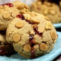Peanut Butter Jelly Stuffed Cookies
