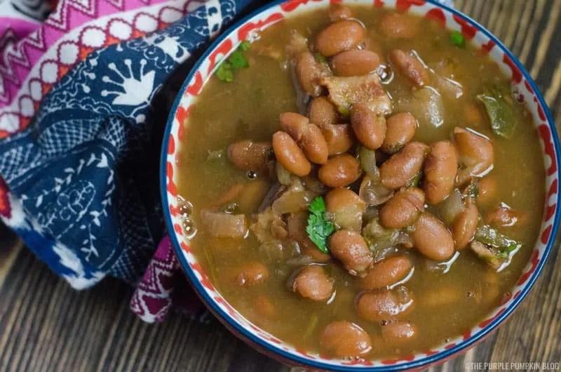 A bowl of charro beans