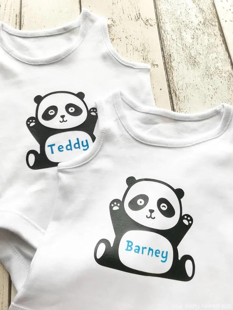 Cute Panda Baby Bodysuits