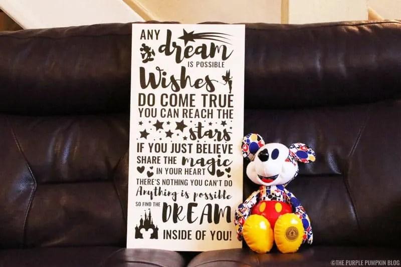 Disney Quote Vinyl Sign