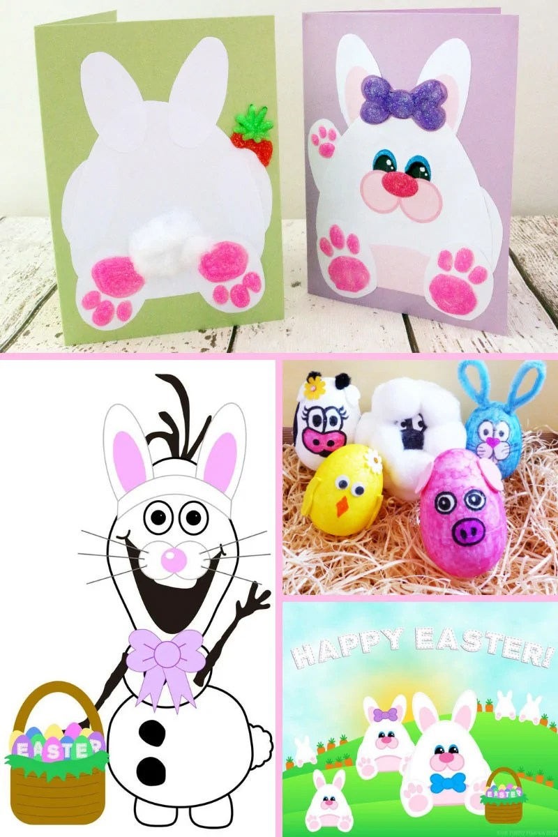 These fun Easter Crafts for Kids will keep your little ones occupied while they wait for a visit from the Easter Bunny! There is a variety of different, kid-friendly crafts including paper crafts, egg crafts, food crafts, and more!