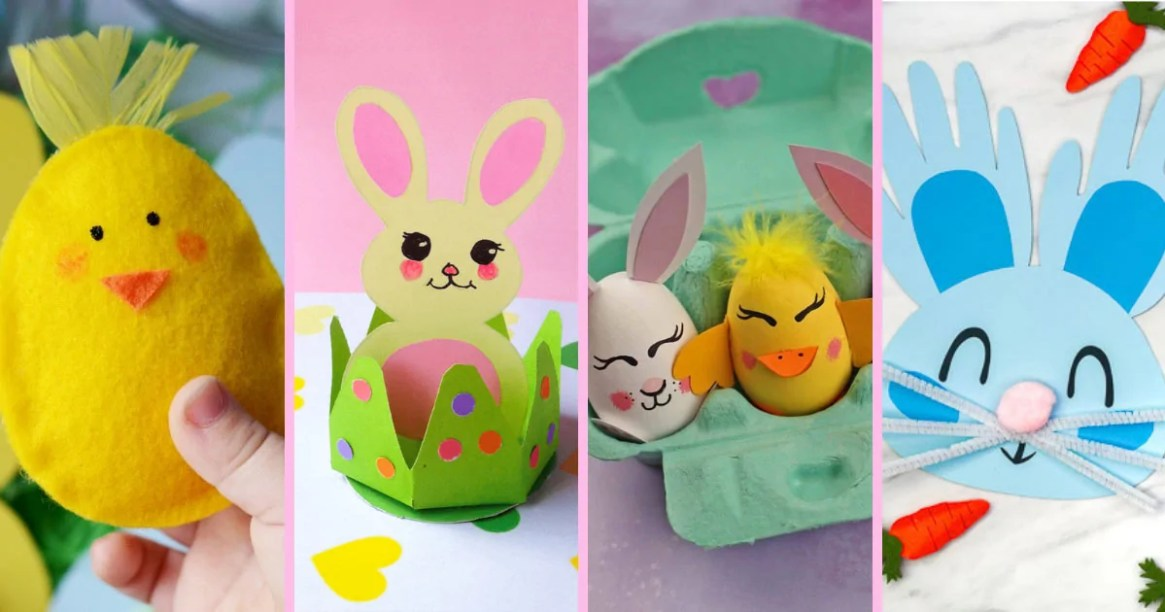 "An awesome collection of fun Easter Crafts for Kids that will certainly keep the kiddos occupied and stave off cries of ""I'm bored"" as they wait for the Easter Bunny!"