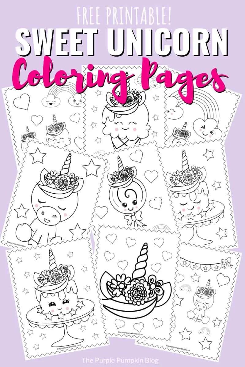 image regarding Unicorn Printable named Tremendous Cute Unicorn Coloring Webpages - No cost Printable