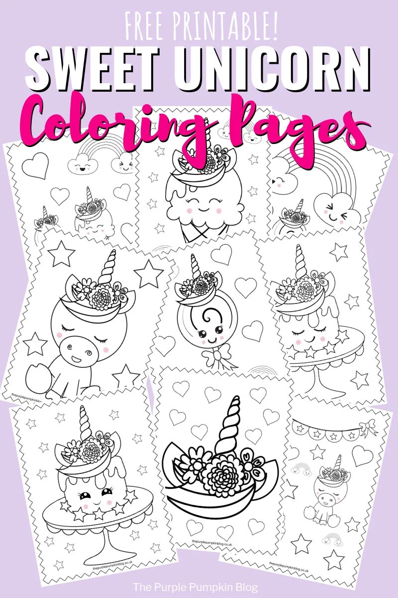 Super Sweet Unicorn Free Coloring Pages