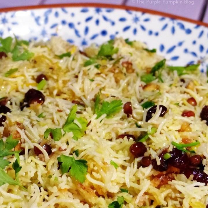 Jewelled Persian Rice with Pomegranates, Walnuts & Parsley Persian Pomegranate Rice