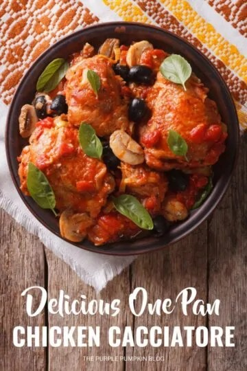 This one pan Chicken Cacciatore is a delicious, comforting Italian chicken dish, that makes a great family meal any day of the week.