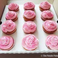 Pink Glitter Birthday Cupcakes