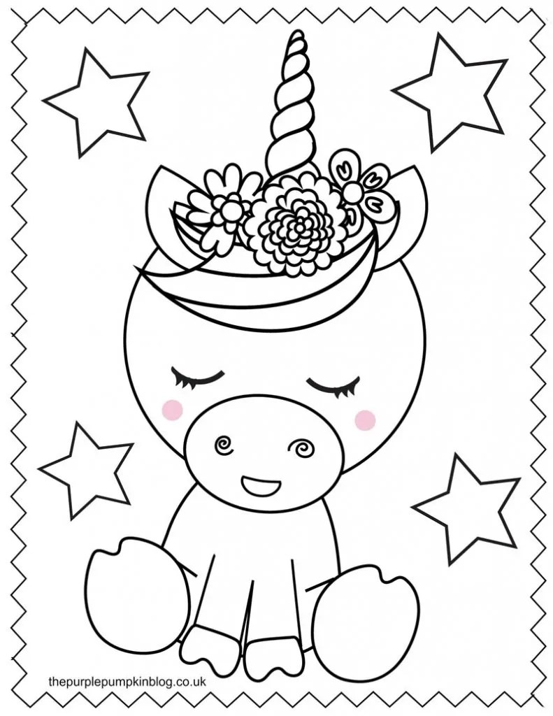 Super Sweet Unicorn Coloring Pages Free Printable Colouring Book