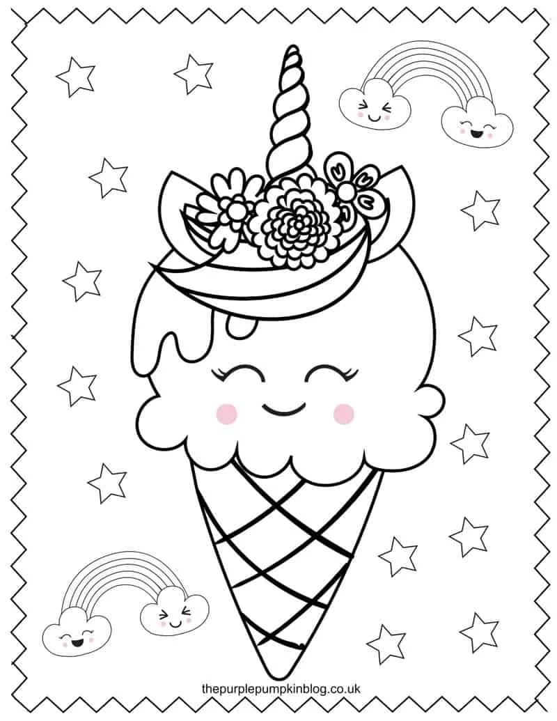 Unicorn Coloring Page Printable