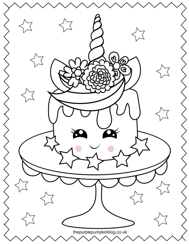 Super Sweet Unicorn Coloring Pages - Free Printable ...