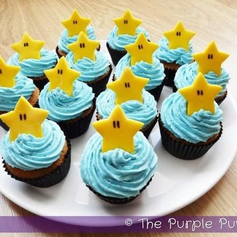 Starman Cupcakes - Nintendo Party