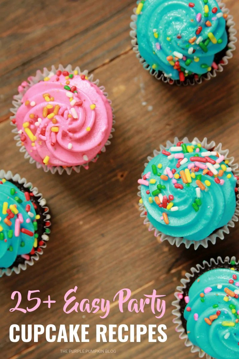 25+ Easy Party Cupcake Recipes