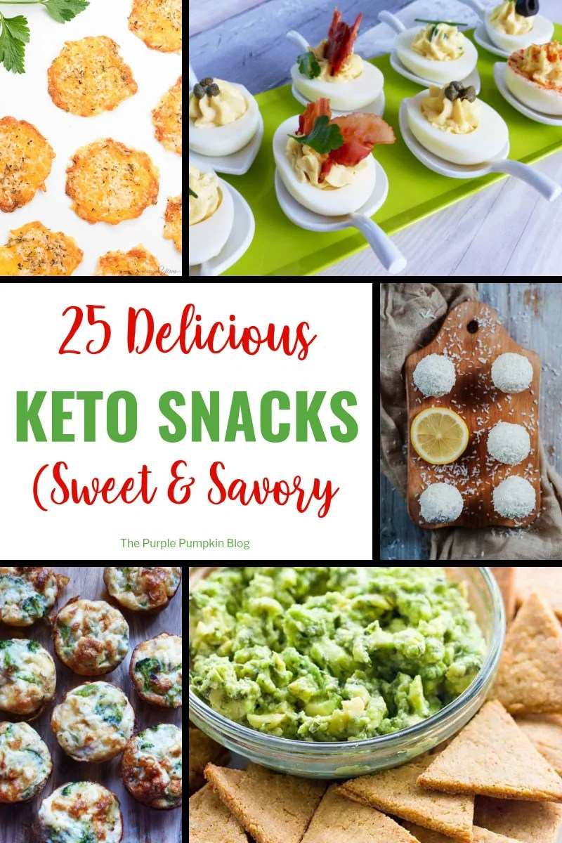A tasty selection of low carb snacks
