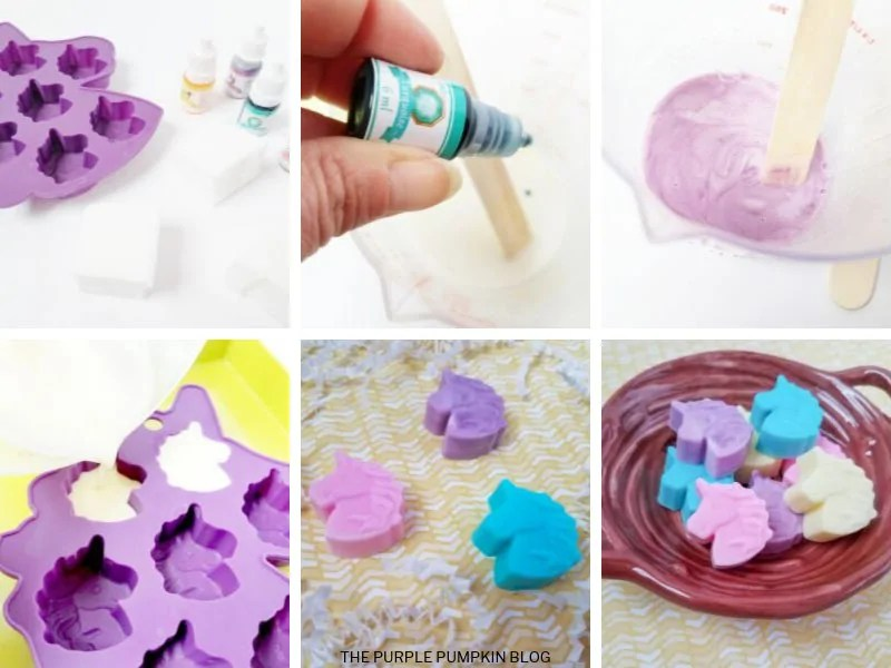 Craft Tutorial Card - Unicorn Soaps