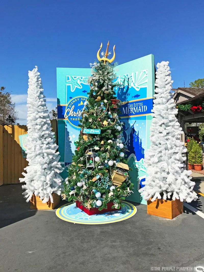The Little Mermaid Christmas Tree at Disney Springs