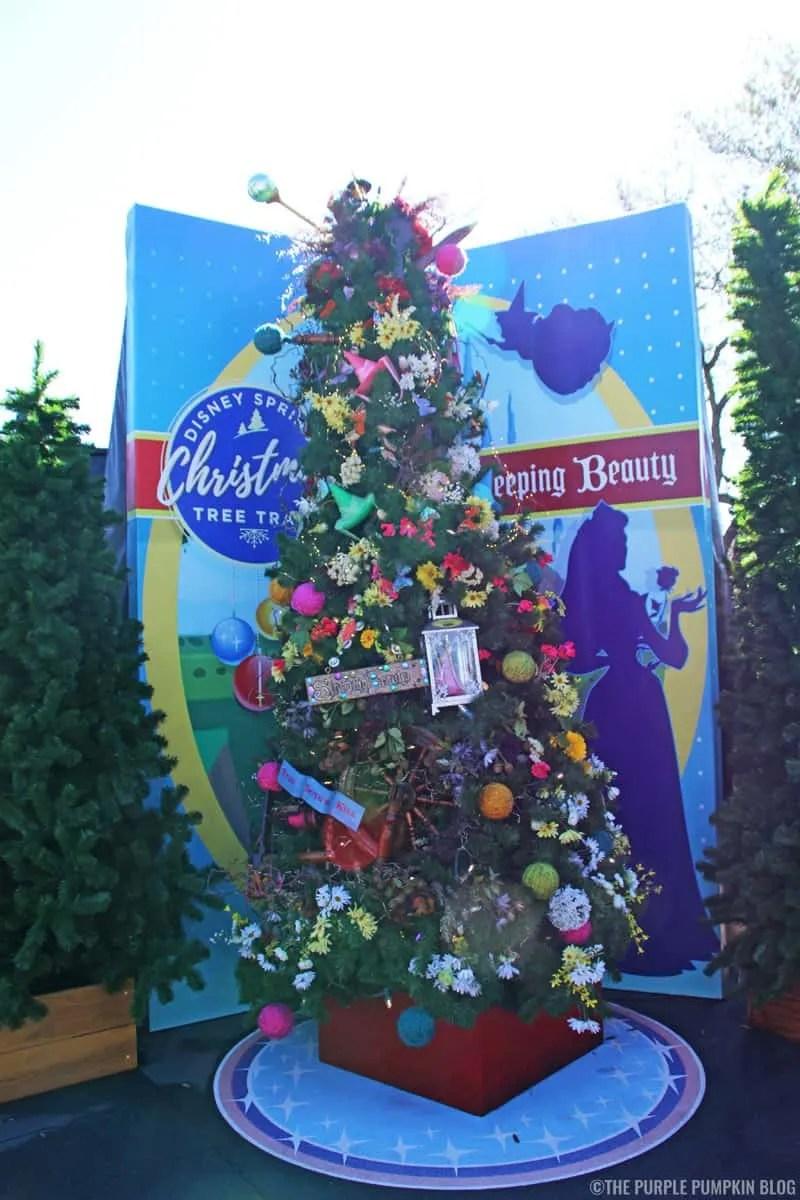 Sleeping Beauty Christmas Tree at Disney Springs Christmas Tree Trail