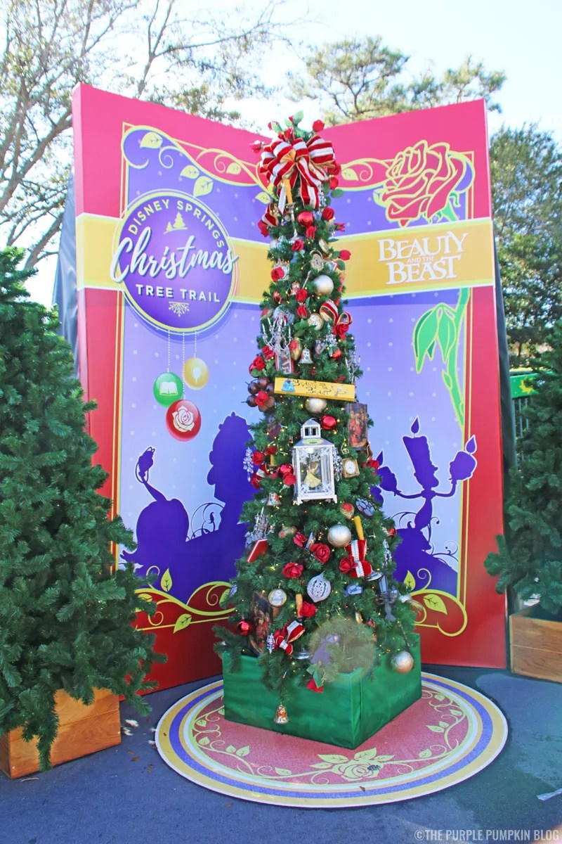 Beauty & The Beast Christmas Tree at Disney Springs Christmas Tree Trail