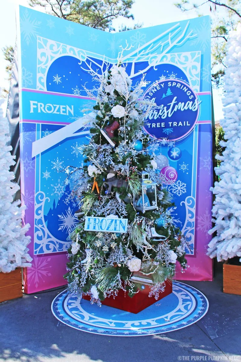 Frozen Christmas Tree at Disney Springs Christmas Tree Trail