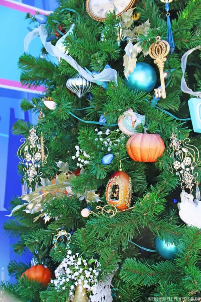 Close Up of Cinderella Christmas Tree